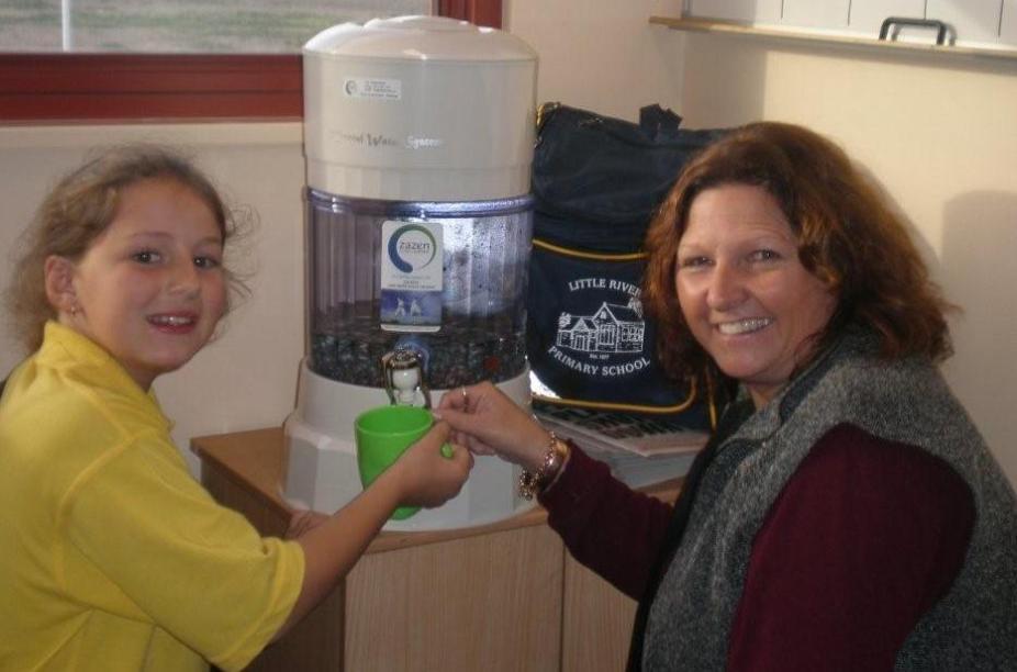 Karen Chaston, Princpal Little River School Geelong and student