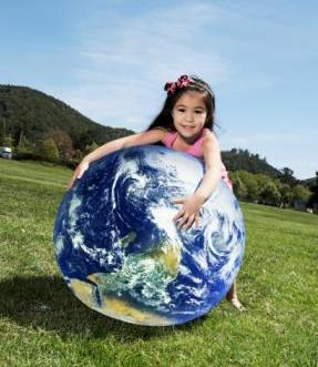 little-girl-with-globe
